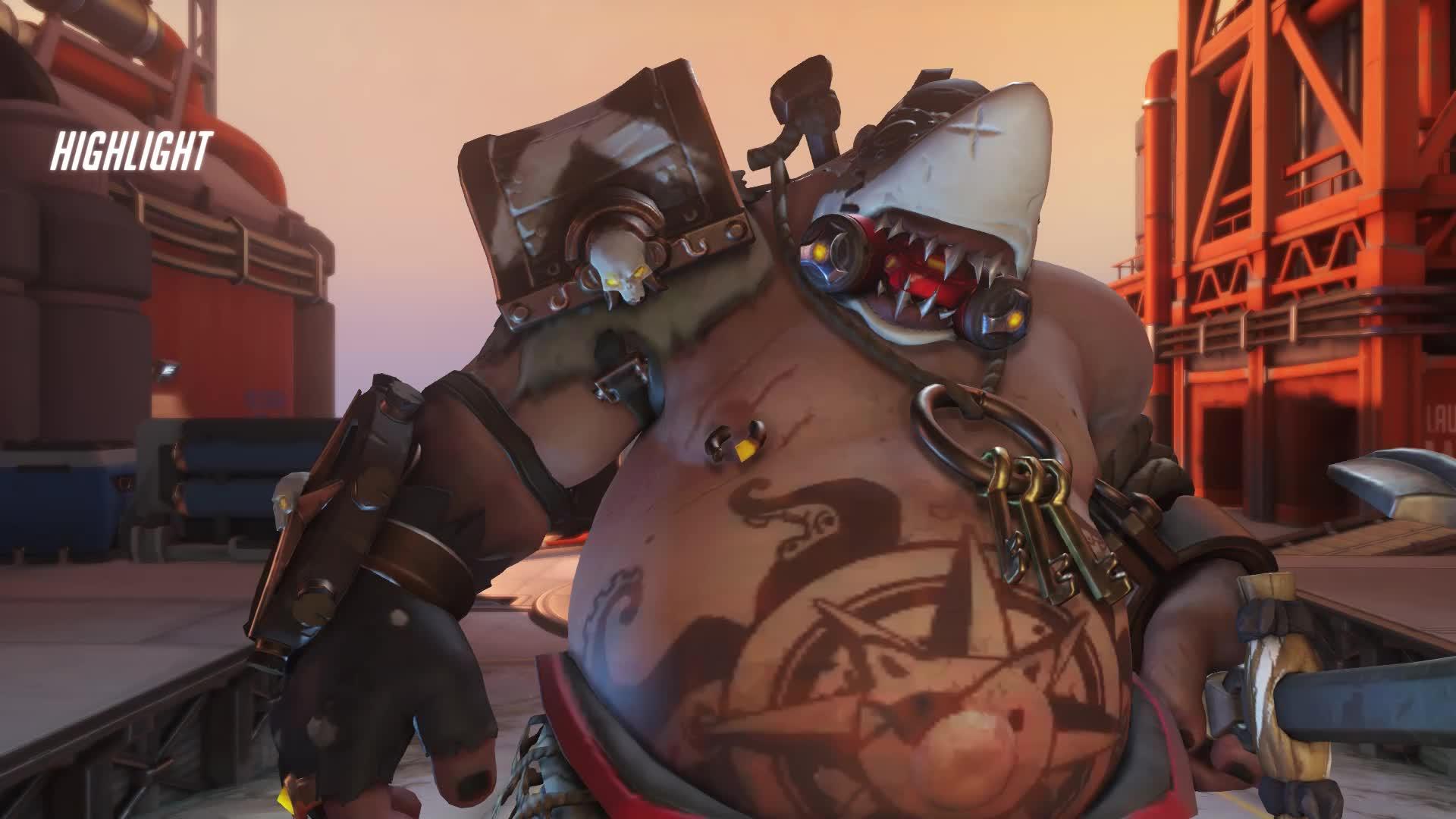 overwatch, roadhog, hog says sit GIFs