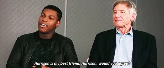 Watch and share Harrison Ford GIFs and John Boyega GIFs on Gfycat