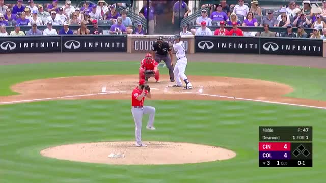Watch and share Colorado Rockies GIFs and Cincinnati Reds GIFs on Gfycat