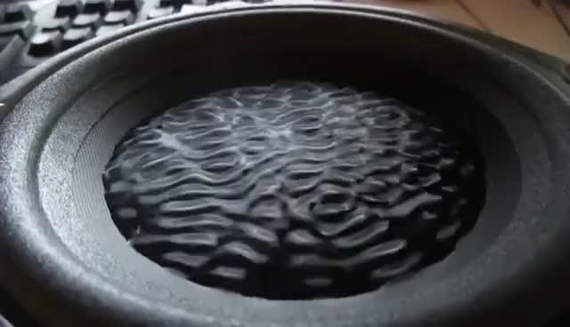 Speaker + Subwoofer Water Test GIF | Gfycat