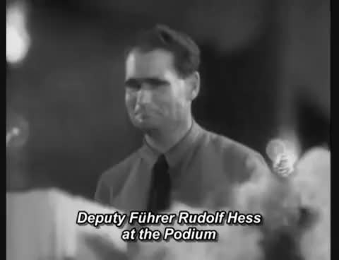 Watch and share Adolf Hitler - Speech (English Subtitles). GIFs on Gfycat