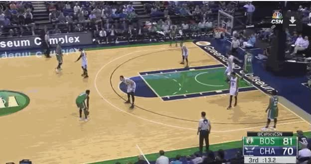 Watch and share Boston Celtics V Charlotte Preseason Smart And Brown GIFs on Gfycat