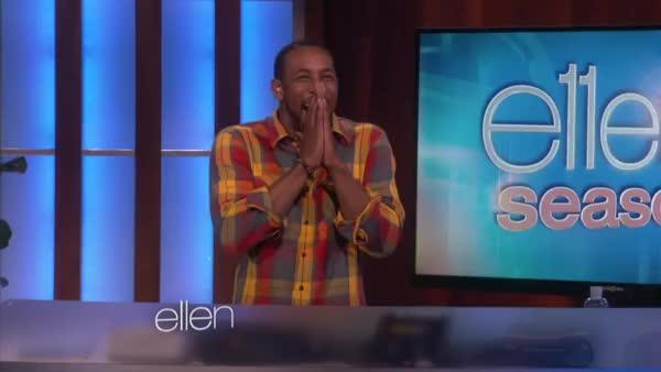 Watch and share Kristen Bell Dancing On Ellen [Part 2] GIFs on Gfycat