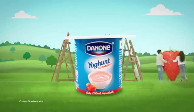 Watch and share Danone Yoghurt HD GIFs on Gfycat