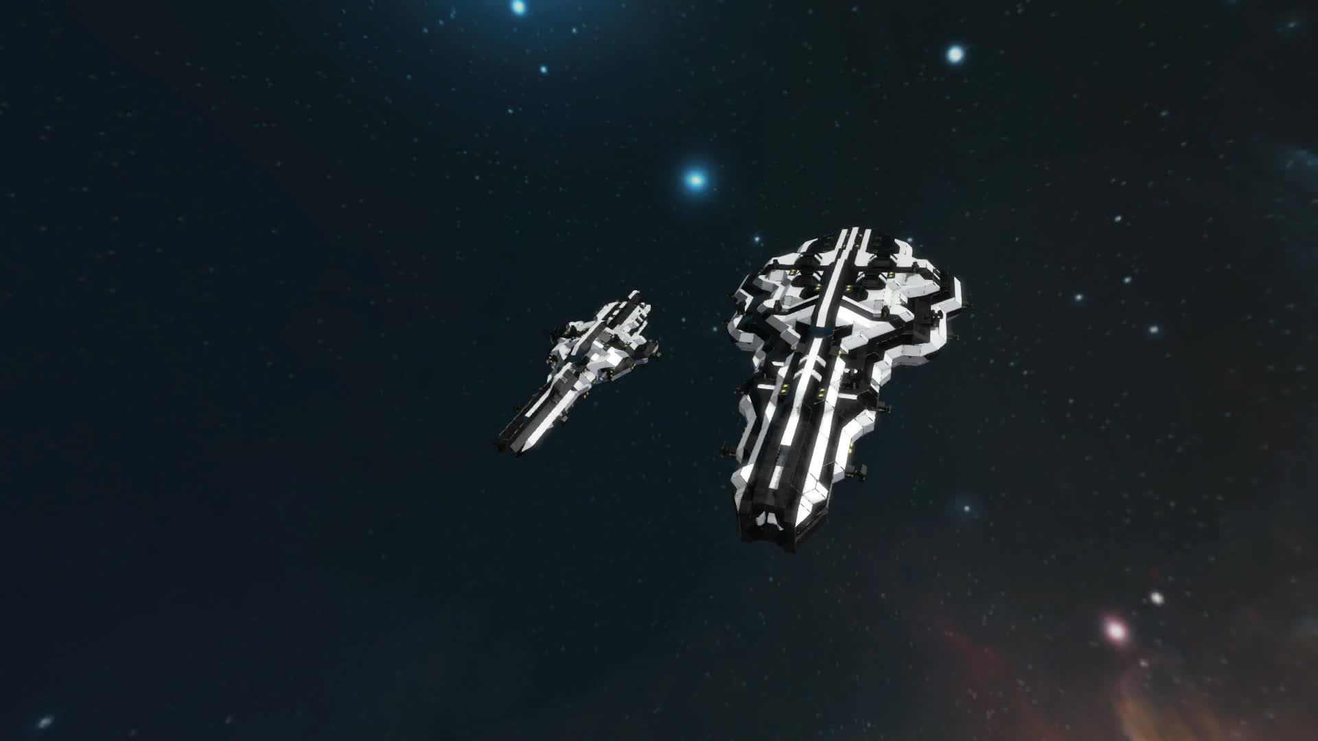 spaceengineers, Heavy Cruiser and Destroyer + missiles GIFs