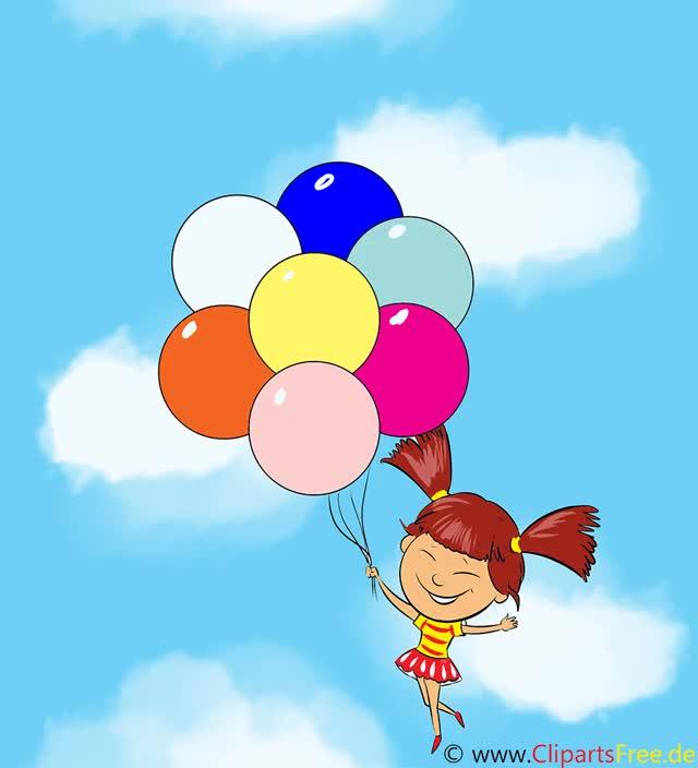 Watch and share Bild Maedchen Fliegt Luftballon GIFs on Gfycat