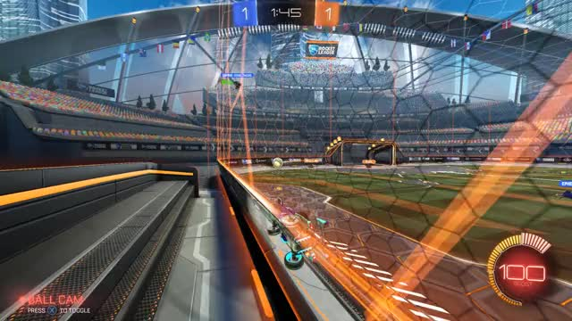 Watch and share Rocket League 2019.04.06 - Casual Goal GIFs by chompenstein on Gfycat