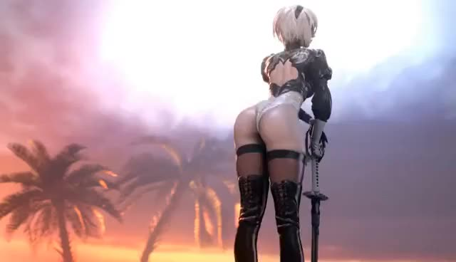 Watch and share Wallpaper Engine: 2B Showing Off Her Booty GIFs on Gfycat