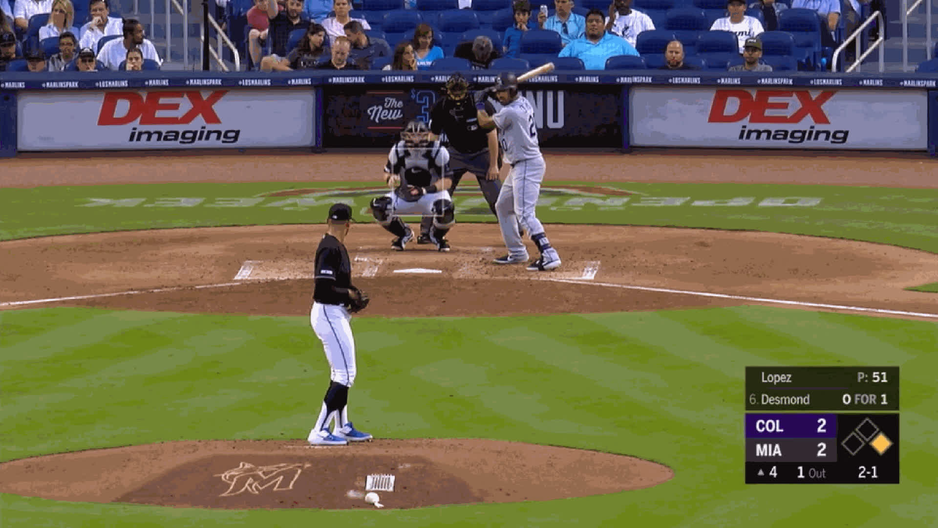 Colorado Rockies, Miami Marlins, baseball, Pablo Lopez-SEQ-CH-FBswkDesmond GIFs
