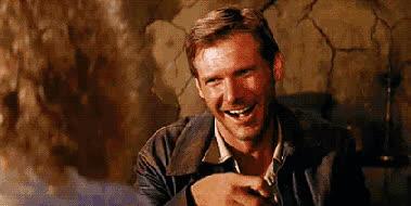 eating, harrison ford, Indiana Jones- Tell me again how much fun I'm having GIFs