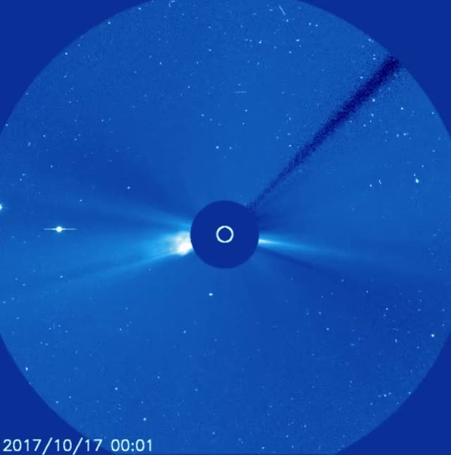 Watch and share Double Solar Eruption Beyond East Limb October 18, 2017 - C3 GIFs by The Watchers on Gfycat