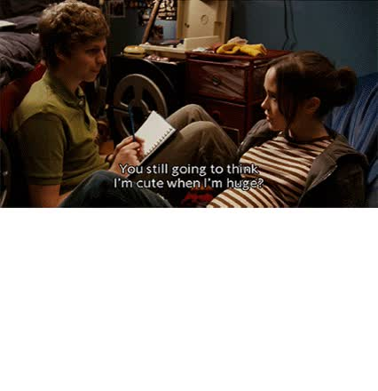 Watch and share Michael Cera Doesn Love Juno animated stickers on Gfycat