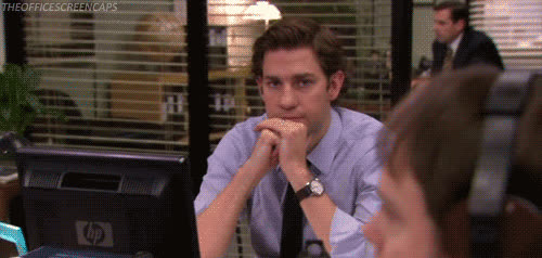 john krasinski, the office, wink,  GIFs