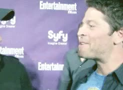 Watch and share Sdcc 2010 Interview GIFs and Collins Family GIFs on Gfycat