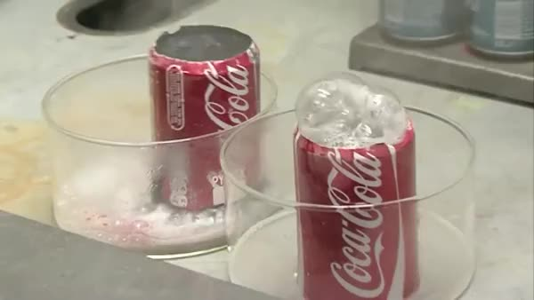 Watch and share Coke Can Placed In Hydrochloric Acid And Sodium Hydroxide. (reddit) GIFs on Gfycat