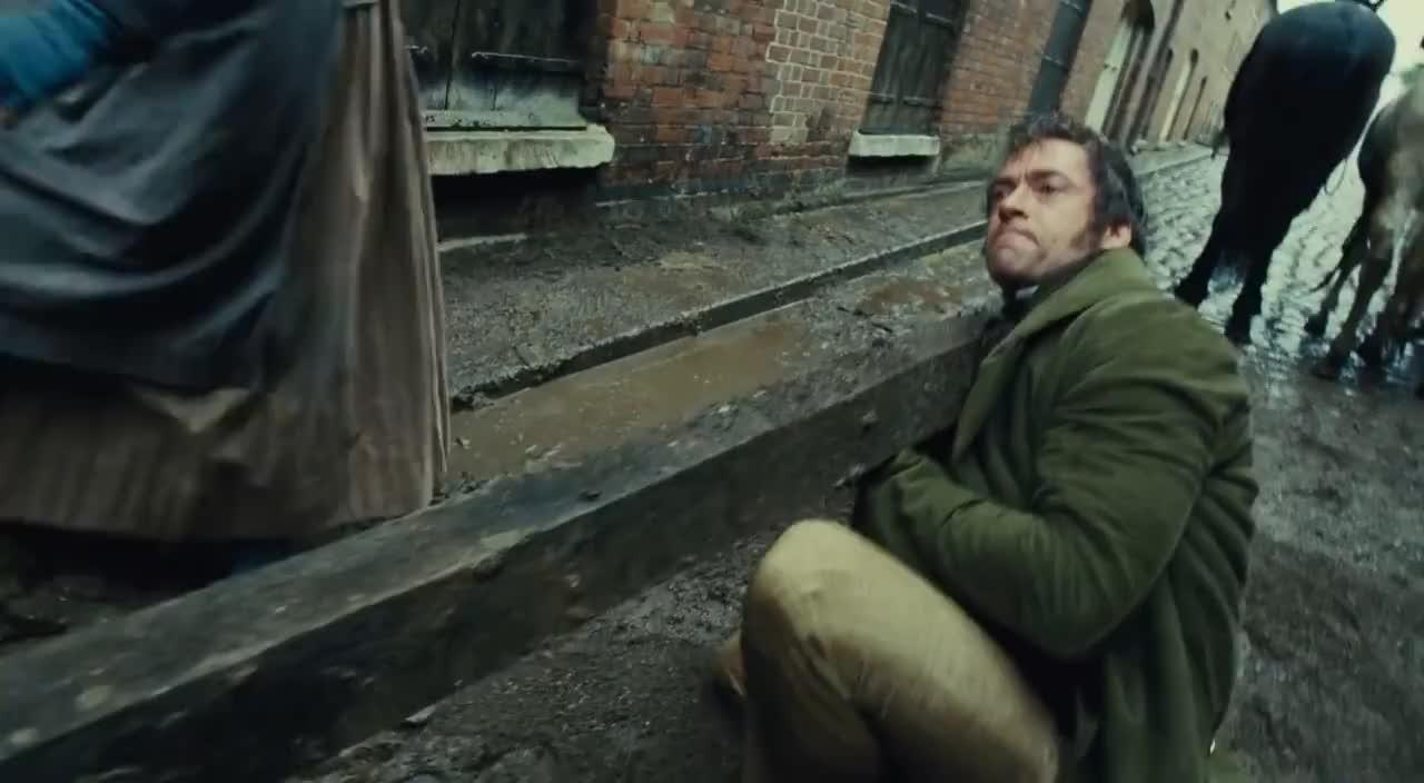 Subtitled, javert, musical, theater, valjean, Les Misérables. The Runaway Cart Scene Subtitled Full HD GIFs