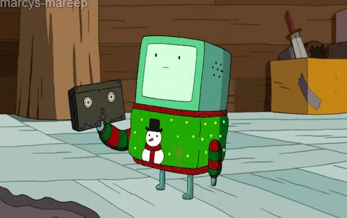 Watch 1k Adventure Time xmas mine bmo at adventure time gifs holly jolly secrets atgifs GIF on Gfycat. Discover more related GIFs on Gfycat