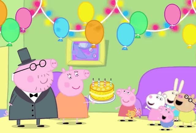 Watch this party GIF by GIF Queen (@ioanna) on Gfycat. Discover more are, ballons, bday, best, birthday, blow, cake, candles, celebrate, family, friends, happy, happy birthday, how, old, party, peppa, pig, wishes, you GIFs on Gfycat