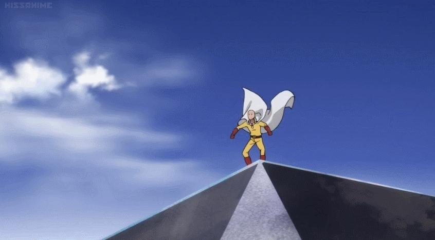 animegifs, onepunchman, One Punch Man | Saitama Vs Bullets (reddit) GIFs