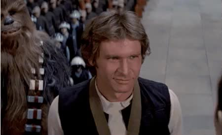 Watch and share Harrison Ford GIFs and Star Wars GIFs on Gfycat