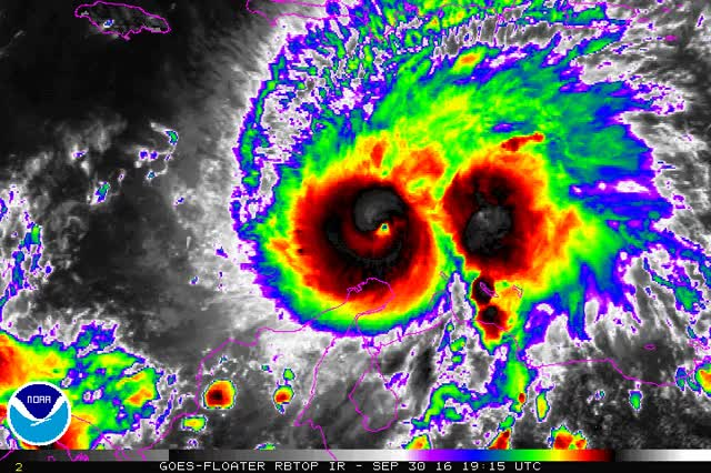Watch and share Hurricane-matthew-becoming-category-5-animated GIFs on Gfycat