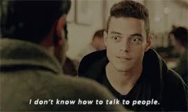 Watch and share Elliot Alderson GIFs and Rami Malek GIFs on Gfycat