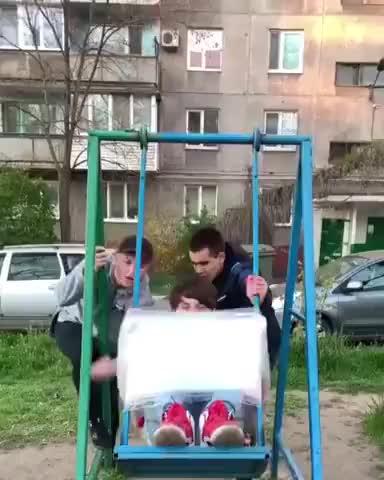 Crazy swinging gif