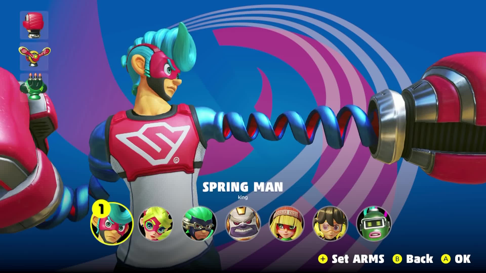Nintendo Switch Arms Gifs Search Share On Homdor Spring Man Character Select
