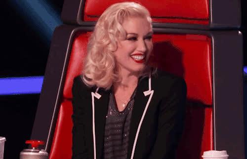 awww, blush, flattered, gwen stefani, the voice, Gwen Stefani Flattered GIFs