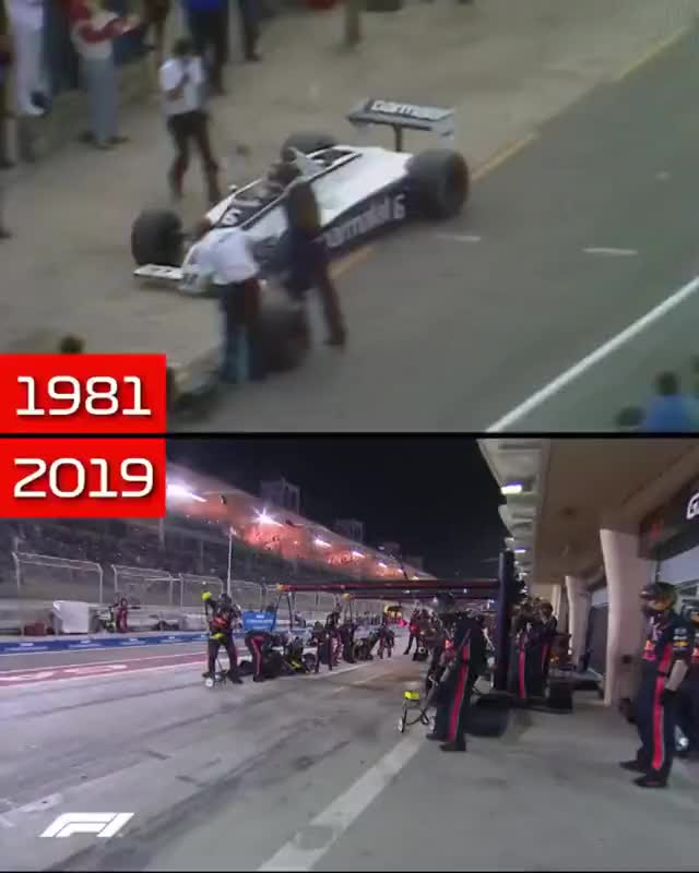 Watch and share F1 Pit Stops In 1981 Vs 2019 GIFs on Gfycat