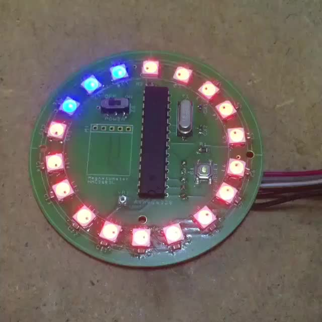 Watch Well that's 18 neopixels and 18 0603 capacitors soldered and they all work! I'm running a test code to check all the colours work properly. GIF on Gfycat. Discover more adafruit, arduino, arduinonano, arduinouno, atmega, atmel, coding, neopixel, programming GIFs on Gfycat