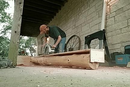 woodworking, Cutting an offset notch on a cedar post GIFs
