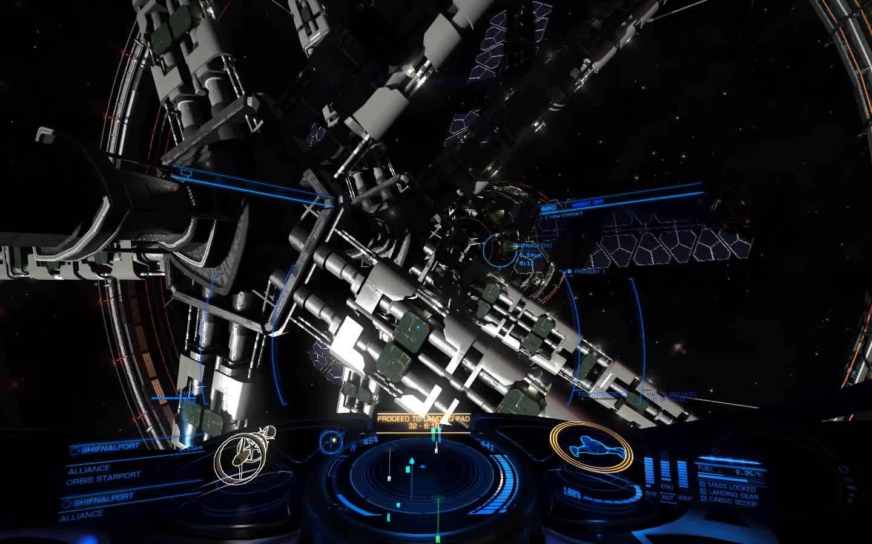 elitedangerous, A relaxing cruise around the statiOH DEAR GOD (reddit) GIFs