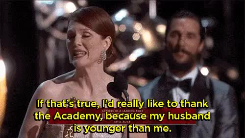 Watch Yahoo Entertainment GIF on Gfycat. Discover more julianne moore, oscars, still alice GIFs on Gfycat