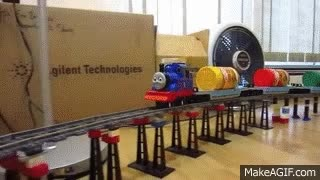 Watch and share LEGO Thomas The Tank Engine Train Delivers Kraft Peanut Butter! GIFs on Gfycat