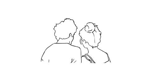 Watch and share Couple, Love, Calin, Dessin, Amour, Noir Et Blanc GIFs on Gfycat