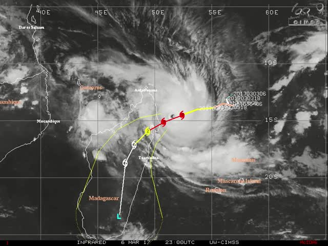 Watch and share Tropical Cyclone Enwo Makes Landfall Over NE Madagascar - March 7, 2017 GIFs by The Watchers on Gfycat
