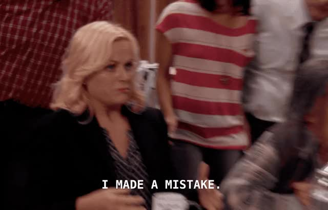 Watch this parks and rec GIF by Pete Brown (@pauljonesb) on Gfycat. Discover more amy poehler, celebs, leslie knope, mistake, parks & rec, parks and rec, parks and recreation GIFs on Gfycat