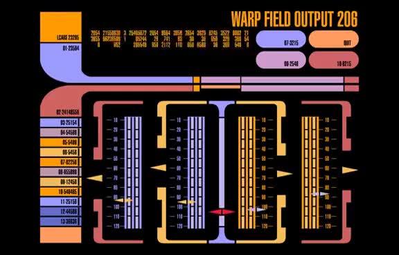 Watch and share Star Trek LCARS - Warpfield Output GIFs on Gfycat