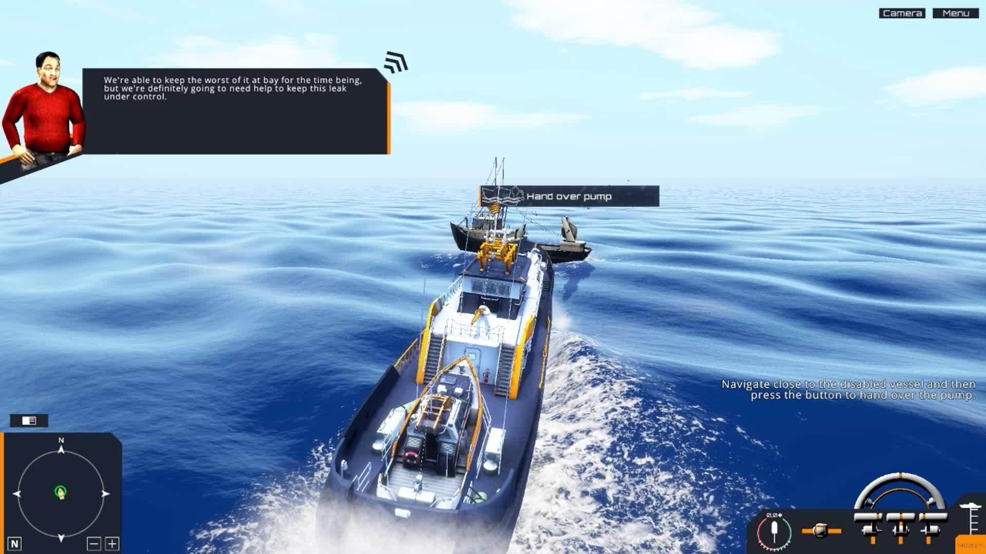 gamephysics, Coast Guard ship attempts to help fishing boat GIFs