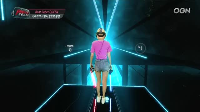 Watch [퍼펙트센스 BeatSaber QUEEN] 뿜뿜 Bboom Bboom (모모랜드) 치어리더 서현숙 GIF by @kpax3000 on Gfycat. Discover more B120177449_c, Beat saber, Perfect sense, VR, game, rythm game, vr game, 리듬게임, 비트세이버, 퍼펙트센스 GIFs on Gfycat