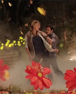 Grace helbig, awesomenesstv, chester, chester see, dance, fave, gif, gracehelbig, grester, it'sgrace, itsgrace, my edit, over 1000, sideeffects, we need this now, yeah theres the dance but don't forget the kiss, Grace & Chester in the Side Effects season 2 promos (x) (x) GIFs