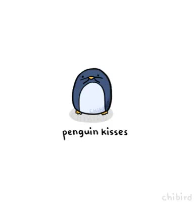Watch and share Have Some Penguin Kisses ~ I Cant Stop Drawing Penguins; Theyre Too Cute. ;u; GIFs on Gfycat