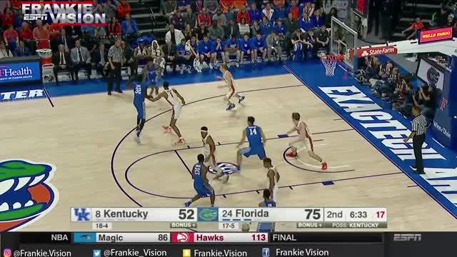Watch Malik Monk  (Kentucky) Full Highlights vs Florida // 2.4.17 // 11 Pts GIF by CozyChronic (@cozychronic) on Gfycat. Discover more basketball, kentucky, wildcats GIFs on Gfycat