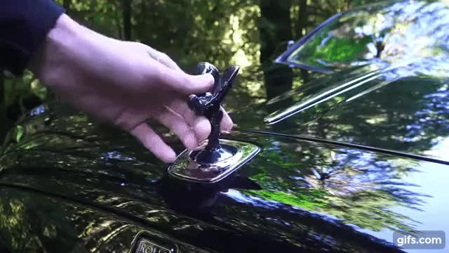 Watch and share Rolls Royce Anti-theft Hood Ornament GIFs on Gfycat