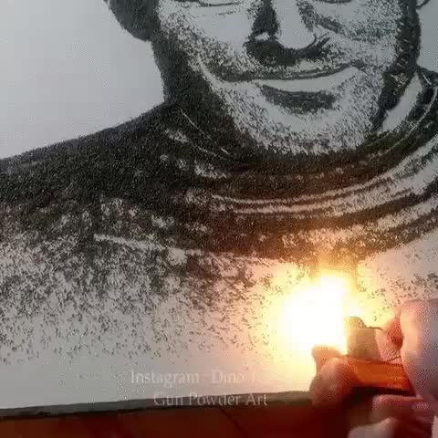 Watch and share Gun Powder Art With A Twist GIFs by mossberg91 on Gfycat