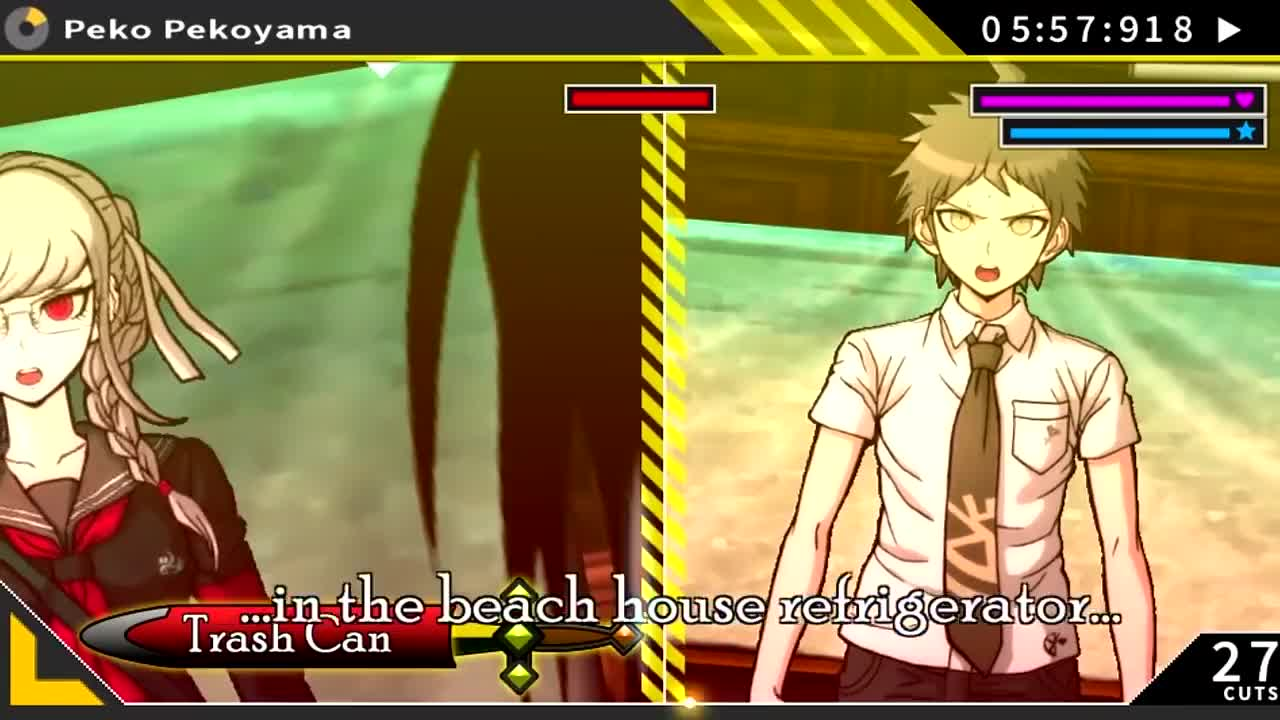 Action, Beginning, Blind, Investigation, Lucahjin, Prologue, Secret, fuyuhiko, hajime, hope, lucah, peko, playthrough, trial, walkthrough, Danganronpa 2 Rebuttal Showdown GIFs