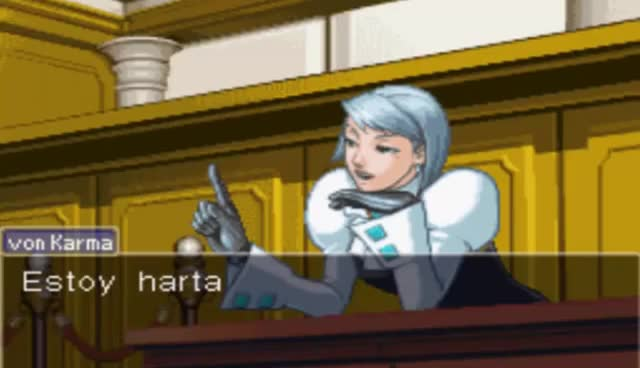 Watch and share Franziska Von Karma GIFs and Phoenix Wright GIFs on Gfycat