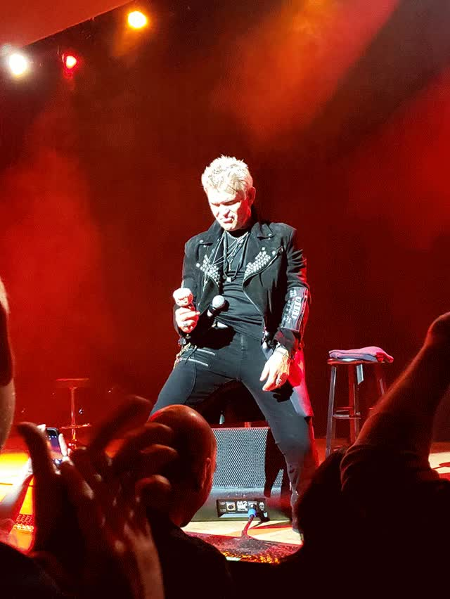 Watch and share Idle Billy Idol Holding A Billy Idol Idol (The Town Hall, NYC, March 27, 2019) GIFs on Gfycat