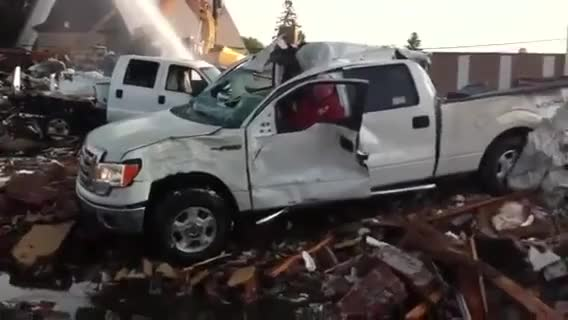 Watch and share Kelleher Ford Dauphin New Meaning To Built Ford Tough. F150 Drives Off Rubble Morning After Fire GIFs on Gfycat